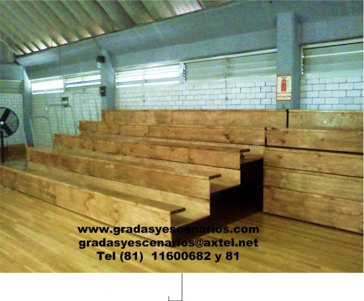 Gradas gradas y escenarios for Gradas de madera para exteriores